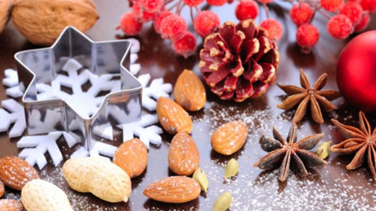 Christmas hazelnut nutsy dessert