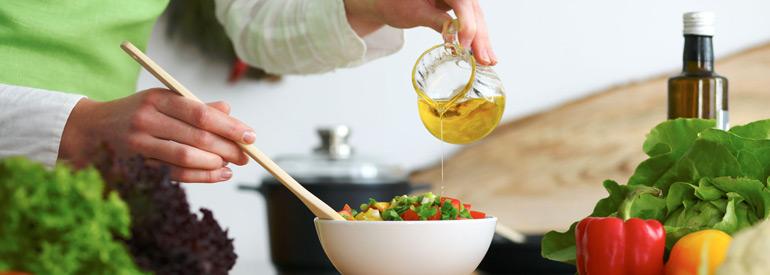 L'olio in cucina