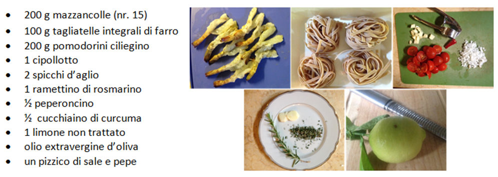 Tagliatelle con mazzancolle ingredienti