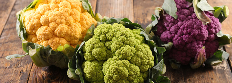 The seasonality on the table continues, the precious cauliflower!