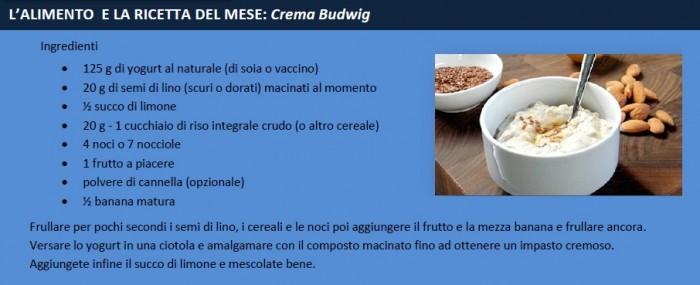 ricetta crema budwig