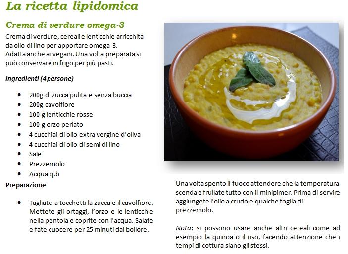 ricetta-lipidomica - crema verdure omega 3